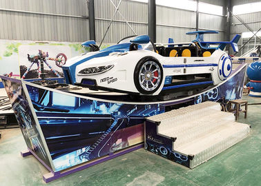 China Custom Flying Car Ride Fiberglass Material Single Or Double Wave Track factory