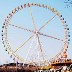 China Thrilling Fairground Ferris Wheel White Color With Double Side RGB Lights factory