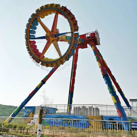 China 120 Degree Giant Frisbee Ride , Extreme Frisbee Ride 30 Seats factory