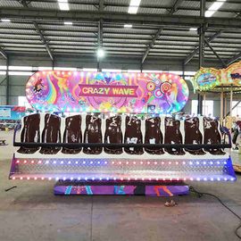 China Crazy Wave Ride Double Side Seats Customized Decoration Height 3-3.3m factory