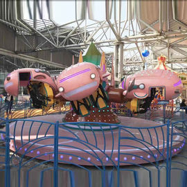 China Funny Amusement Park Rides Carzy Dance Ride 6 Caoches FRP Floor factory