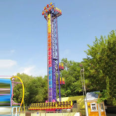 China 24m Sky Drop Ride , Sky High Thrill Rides With Beautiful LED Lights factory