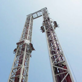 Double Launch Free Fall Tower , Free Fall Drop Ride Running Height 54m