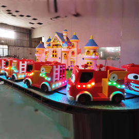 China Kids Play Equipment Fire Fighting Ride With Beautiful Decorative House factory