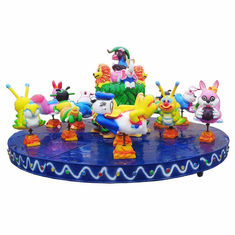 China Cute Kids Amusement Ride Animal Turntable Ride 9 Riders Park Model Type factory