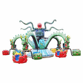 5 Arms Theme Park Rides / Dragon Decorative Octopus Fair Ride