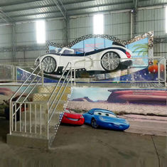 China Amusement Flying Car Ride With Trailer Folding Background Wall factory