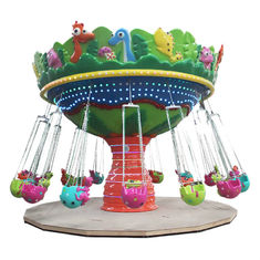 China Animal Shape Flying Chair Ride 16 People Running Diameter 7.5m Height 5m factory