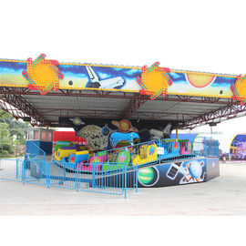 Cool Amusement Park Thrill Rides , Music Express Ride With Slope Wave Track