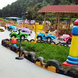 China Funny Kids Amusement Ride , Indoor Amusement Rides Driving Traffic Town factory