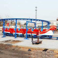 China Dragon Roller Coaster Ride 16 Riders Single Or Double Ring Track factory