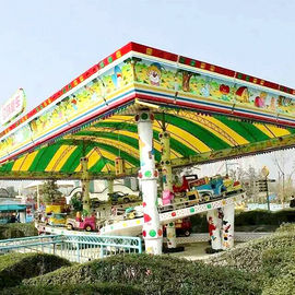 China Kids Park Rides Mini Shuttle Ride Fiberglass Steel Material Height 1.95m factory