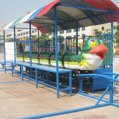 China CE ISO Standard Amusement Park Roller Coaster Cute Green Worm Shape factory