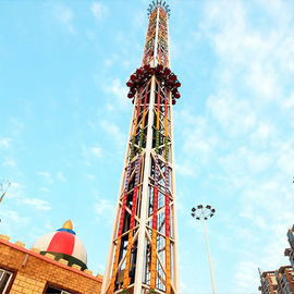 150KW 55m Free Fall Tower , Free Fall Amusement Ride OEM Service
