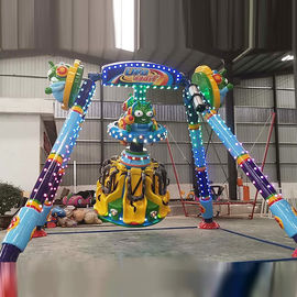 China Amusement Rides Giant Frisbee Ride , 6 Riders Mini UFO Frisbee Ride 360 Degree factory