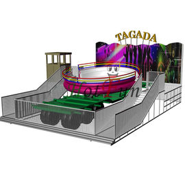 14kw Power Amusement Park Rides Crazy Disco Ride 24 Riders With Trailer