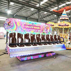 Crazy Wave Ride Double Side Seats Customized Decoration Height 3-3.3m supplier