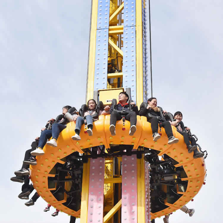 Crazy Free Fall Tower , Sky Tower Ride 360 Degree Rotary Feature supplier